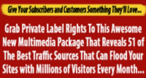 Product picture 51 TOP TRAFFIC SOURCES
